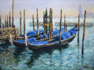 """""""Venetian Gondolas in dusk"""""""
