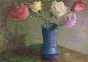Ring Around the Roses - Elaine Benevides Pastel Artist