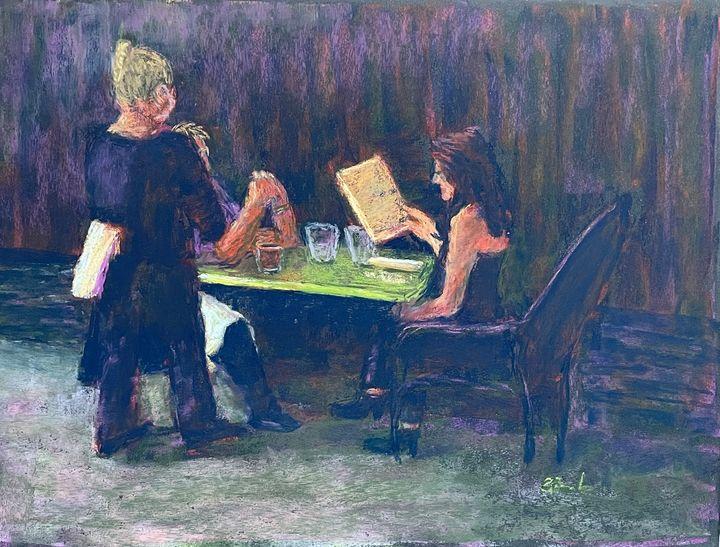 Eating Out 2020 - Elaine Benevides Pastel Artist