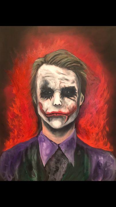 Heath ledger joker - Justin art