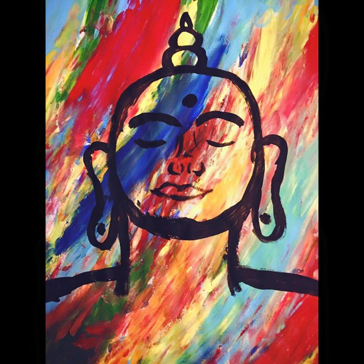 The Enlightened One - Paintings by crystalelaineart