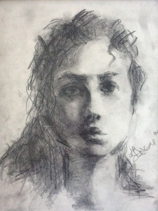 Lady In Charcoal - Art for Thought