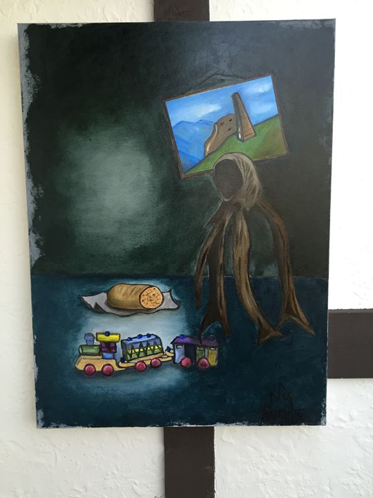 """holocaust Oil on Canvas 40""""x30"""" ART - Grozny Entertainment"""