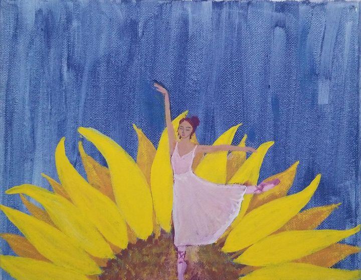 Luna Sunflower - laurenadilayart