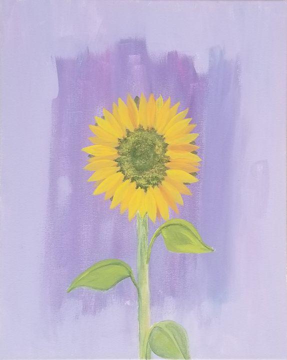 This One Sunflower - laurenadilayart