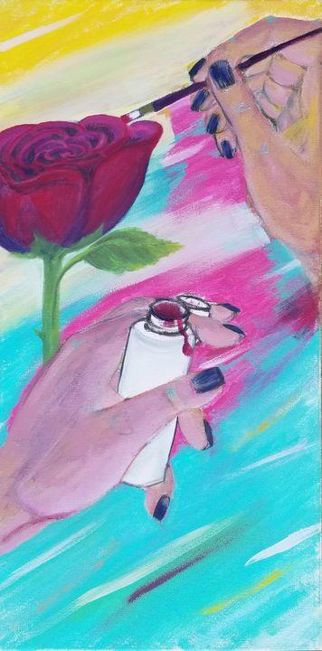 Painting on Painting - laurenadilayart