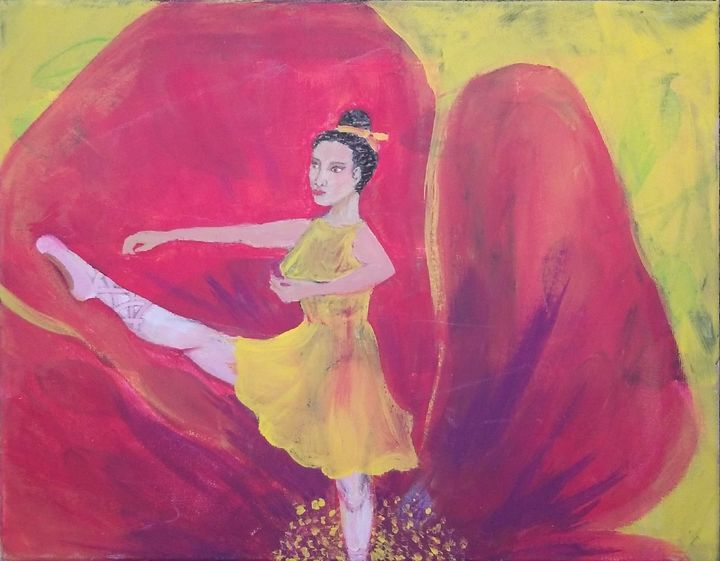 Stretching Poppies - laurenadilayart