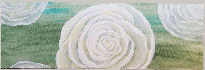 Garden Rose on Green - laurenadilayart
