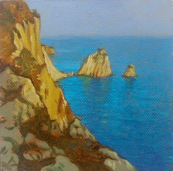 CLIFFS OF KERI ZAKYNTHOS - Paintings by Lorenc Seseri