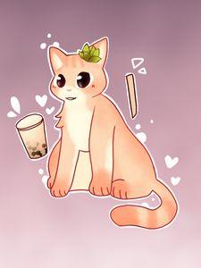Boba Peach Kitty