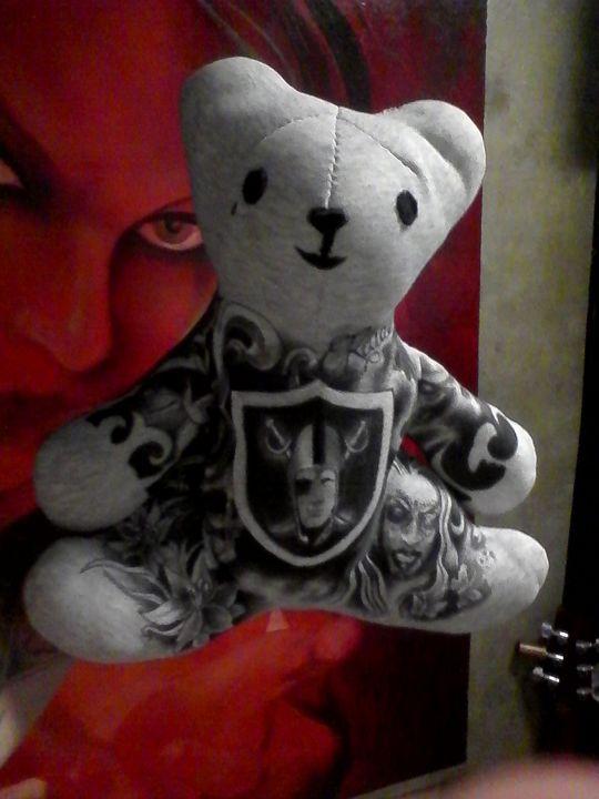 hand made and painted teddy bear - Joshua wahlert (Bamz). And Josiebears