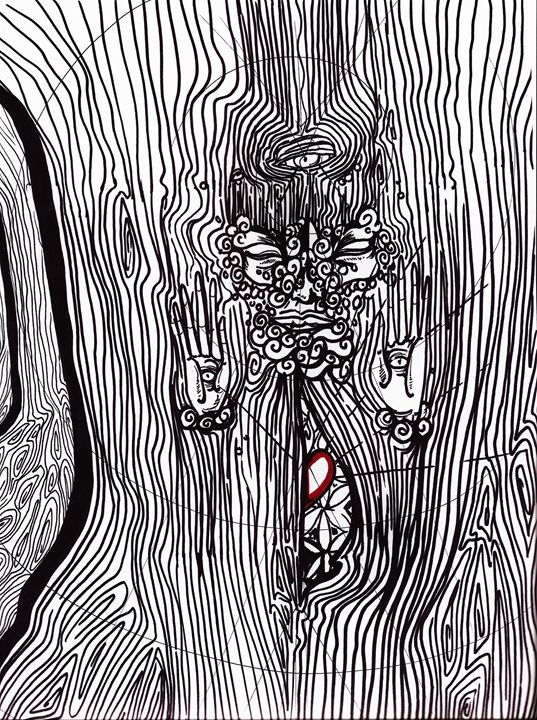 Reaching Inward - Divine Footprints by Tonygrimm