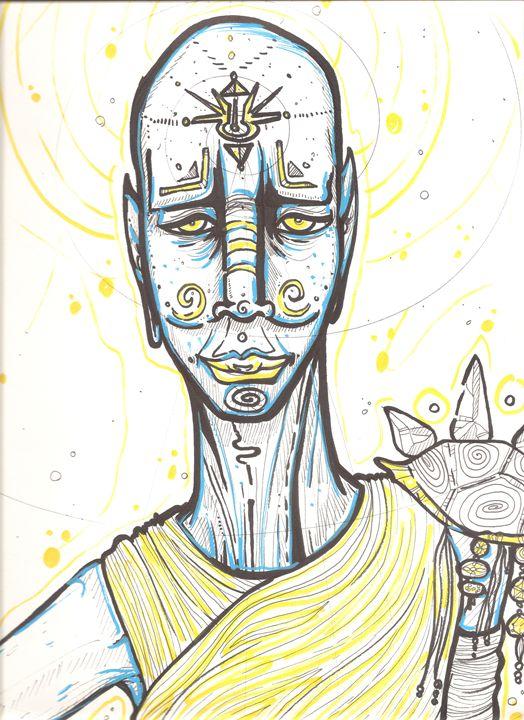Cosmic Healer - Divine Footprints by Tonygrimm