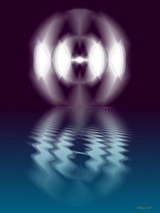 geschwungenes Licht in Wasser 18 - Galerie Art dELLaS  Thomas Dellenbach