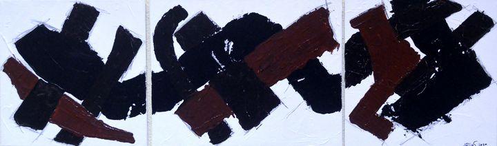 3 Teilige abstrakte Komposition - Galerie Art dELLaS  Thomas Dellenbach