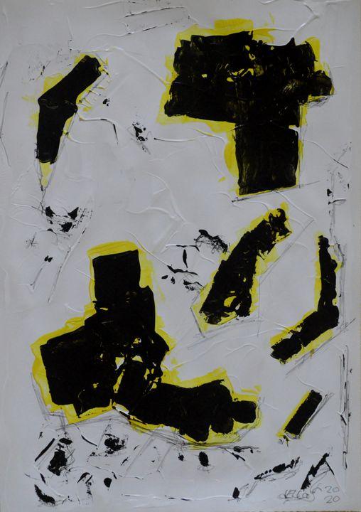 Dreifarbige informelle Komposition - Galerie Art dELLaS  Thomas Dellenbach