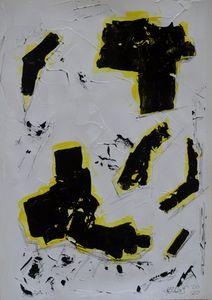 Dreifarbige informelle Komposition