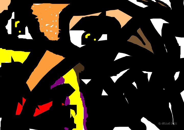 Abstraktion Animal  A1 - Galerie Art dELLaS  Thomas Dellenbach