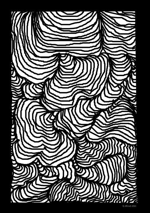 Betangle Grafik  A1 - Galerie Art dELLaS  Thomas Dellenbach