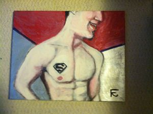 Superman in acrylic