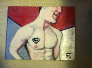 Superman in acrylic