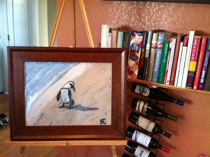 12x18 acrylic penguin - FK Art