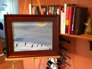 March of the penguins 12x18