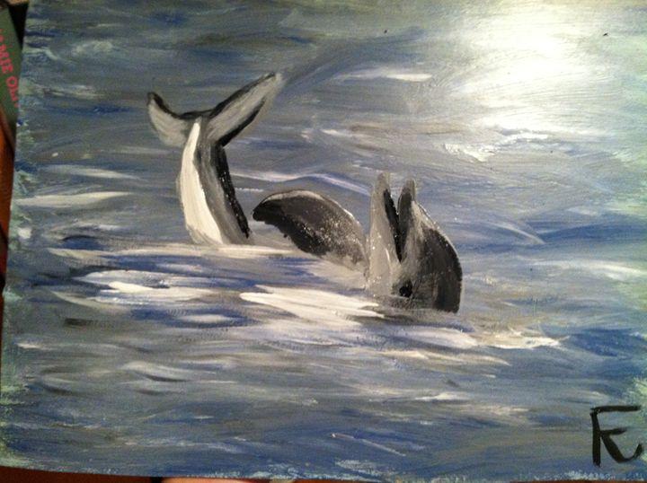 Happy dolphin - FK Art