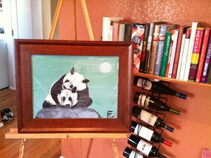 12x18 acrylic panda love