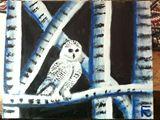 18x24 acrylic snow owl