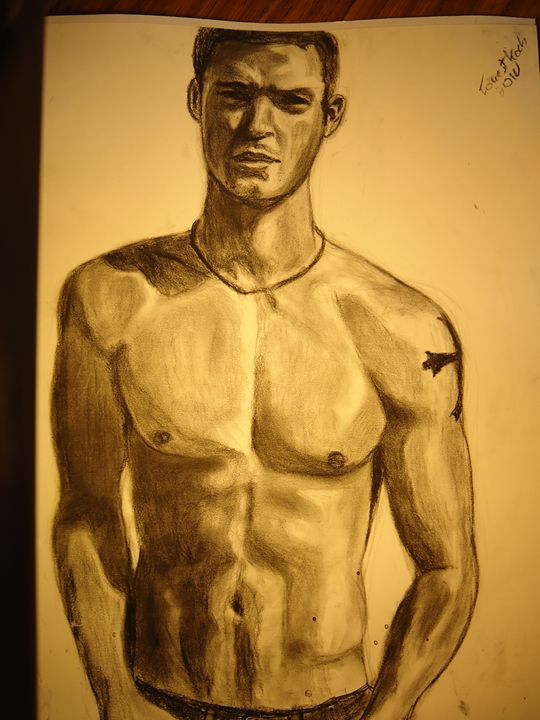 Justin Timberlake in graphite - FK Art