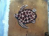 18x24 acrylic turtle