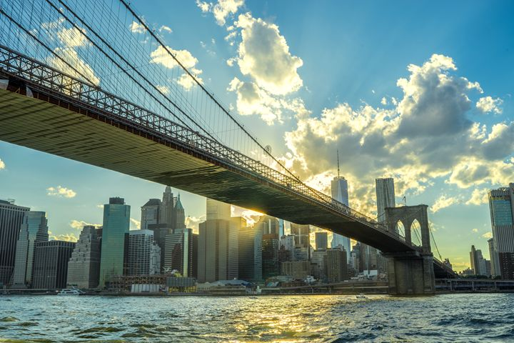 Brooklyn Bridge at Sunset - Si Glogiewicz Photography
