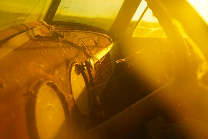 Old Truck at Sunset - Si Glogiewicz Photography