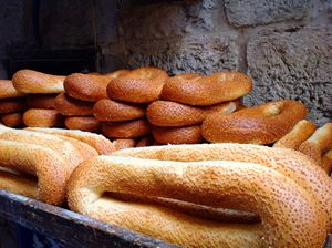 Traditional bread in Jerusalem