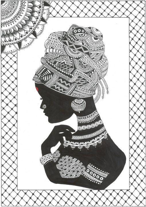 Tribal African Women, Mandala Art - The Artistic Styler