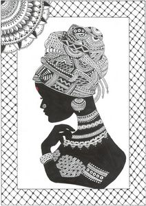 Tribal African Women, Mandala Art