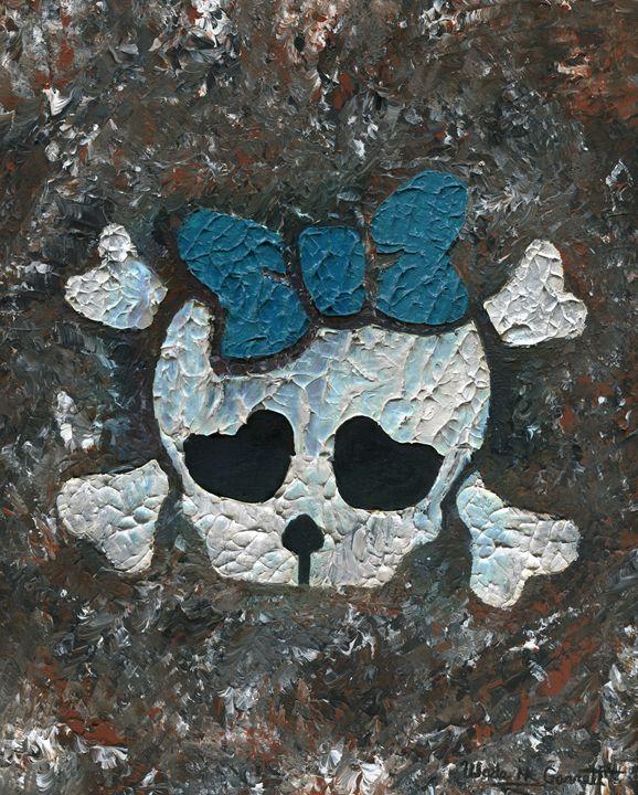 Cute Girl Skull - Wade H. Garrett