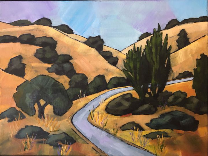 Hike Through Golden Hills - Fayne Creates - Fine Art