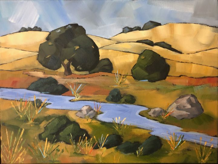 Stream by the Manzanita - Fayne Creates - Fine Art