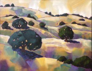 Yellow Sky on California Hills - Fayne Creates - Fine Art