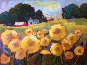Sunflowers on a Farm - Fayne Creates - Fine Art