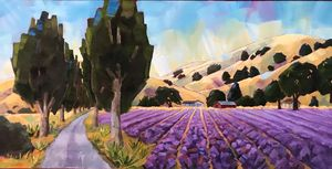 Lavender Fields in the Early Morning - Fayne Creates - Fine Art