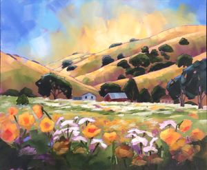 Spring Flowers in the Early Morning - Fayne Creates - Fine Art