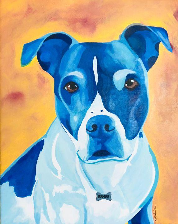Bleu in Blue - Medeiros Art Gallery