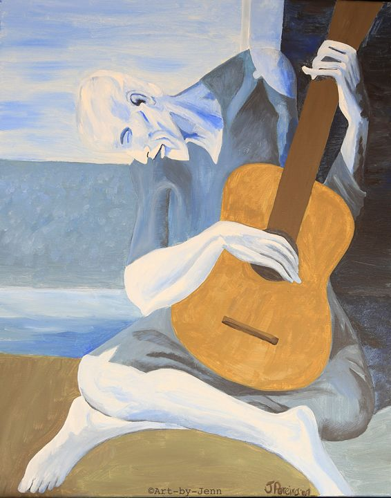 "Picasso ""The Old Guitarist"" - Art Bliss"