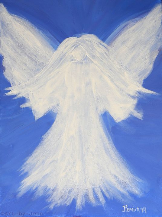 Angel Interpretation 18X24 - Art Bliss