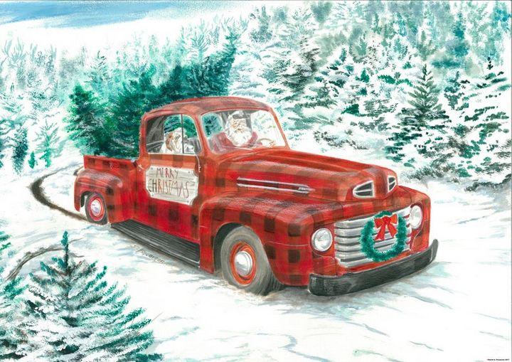 Christmas Truck - Fincannon Scapes
