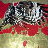 Owl In Flight Duct Tape Art