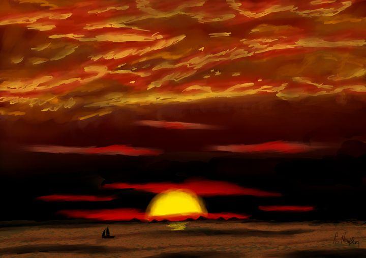 An Evening Sunset - Ryan Thompson Art